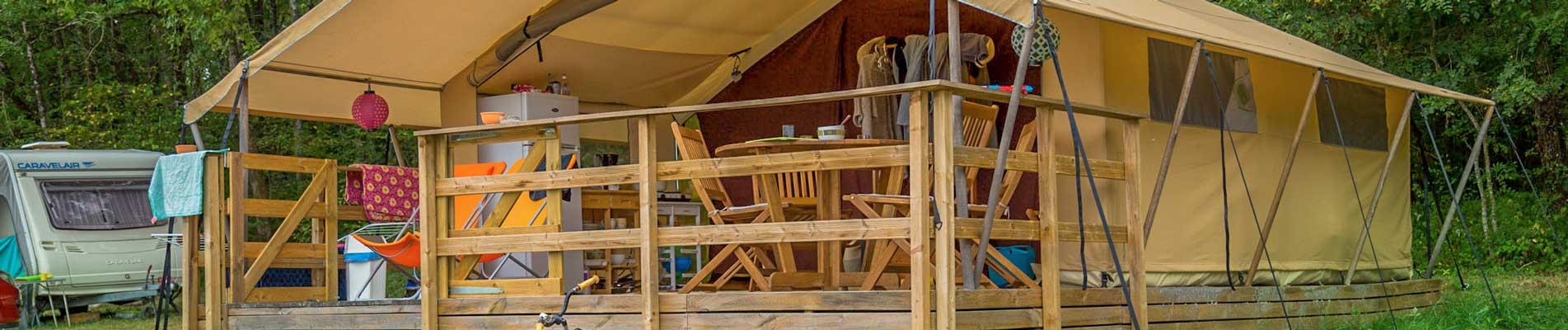 camping location tente cottage périgord